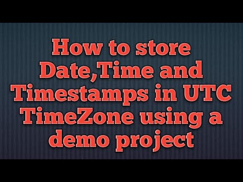 How to store date,time,and timestamps in UTC time zone in Hibernate