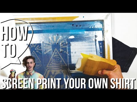 How To screen print your own shirt