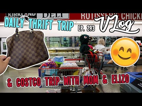 COSTCO TRIP WITH MOM & ELIZO   DAILY THRIFT TRIP   VLOG EP. 293