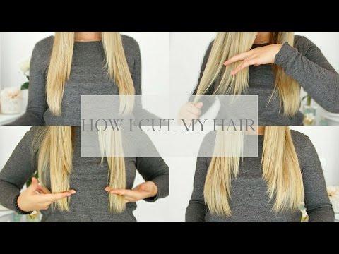 HOW I CUT MY HAIR & KEEP MY LENGTH