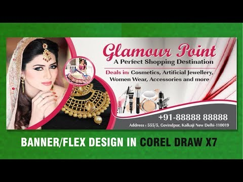Flex Design in Coreldraw X7 | Billboard Design | beauty salon banner | Membuat Spanduk tutorial