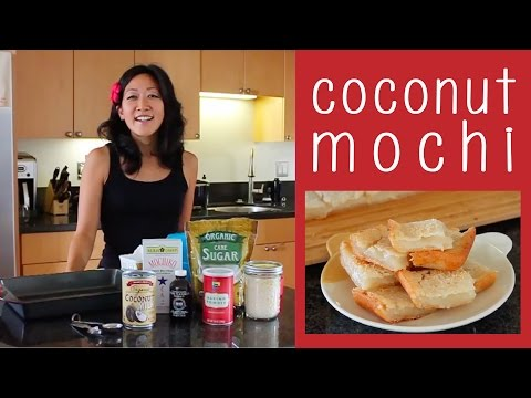 Coconut Mochi Recipe // gluten-free + vegan
