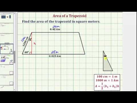 Ex: Find the Area of a Trapezoid Using Conversions and Special Right Triangles (Irrational)