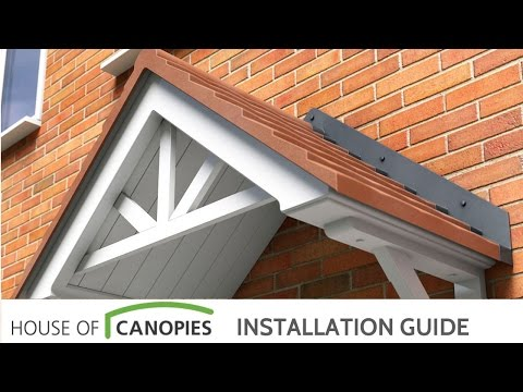 How to fit Duo Pitched Door Canopies