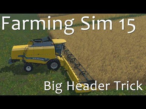 Havester Header Trick - Farming Simulator 15 Tutorial