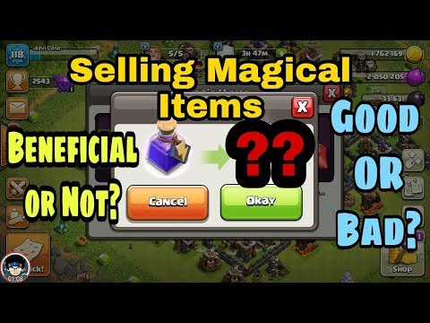 Selling Magic Items Clash of Clans