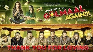 Thank You For Loving | Golmaal Again | Ajay Devgn | Rohit Shetty | Parineeti Chopra