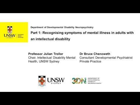 Recognising symptoms of mental illness in adults with an intellectual disability