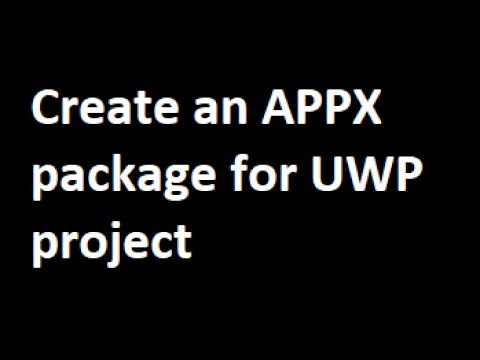 How to create UWP Package
