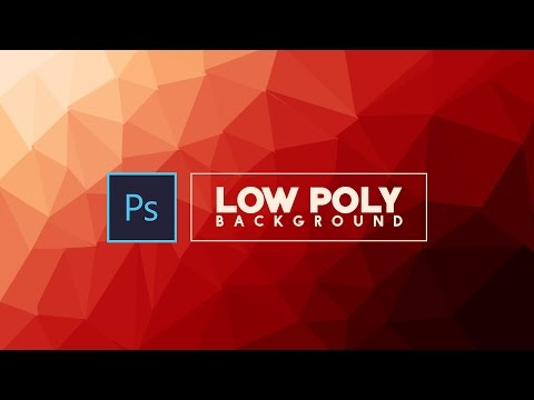 How to make a Low poly bacground Design | Photoshop