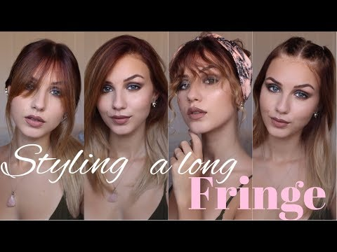 DIFFERENT WAYS TO STYLE BANGS   Straight, Wavy, Casual etc   Stella