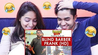 INDIANS react to Blind Barber Prank by Nadir Ali | P4 Pakao