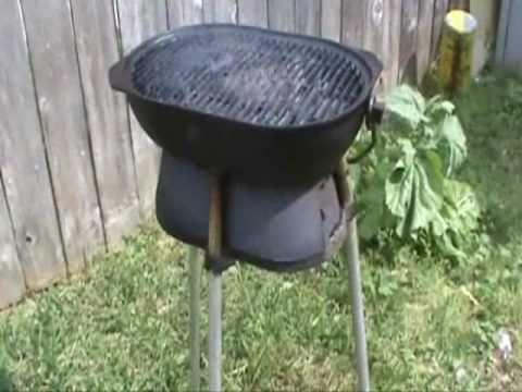 Columbus Iron Works Cast Iron Hibachi Grill