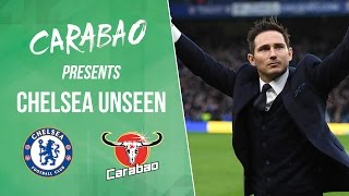 CHELSEA UNSEEN: Lampard & Ba dressing room visit, Kante shootout win & crazy Courtois skills