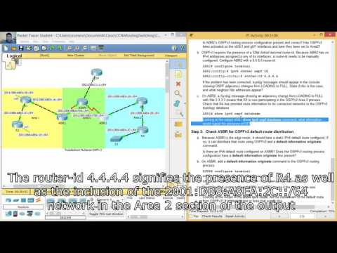 10.2.4.4 - 3.5.1.6 Packet Tracer - Troubleshoot Multiarea OSPFv3