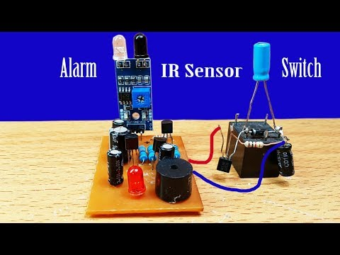 How to Make Alarm or Light switch by using IR sensor Circuit at home