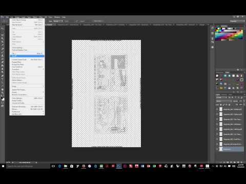 Importing AutoCAD PDFs into Photoshop