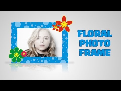 Drawing Digital Floral Photo Frame Idea with Corel Draw