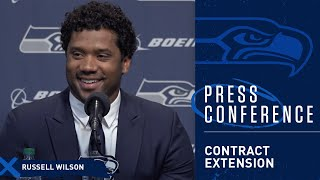 Seahawks Quarterback Russell Wilson Contract Extension Press Conference