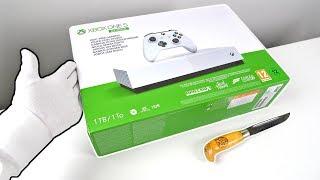 "Xbox One S All Digital ""SAD"" Console Unboxing - Fortnite Season 9 Solo Victory + Codes"