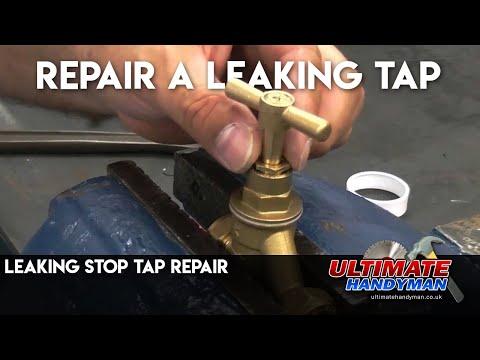 Leaking stop tap repair