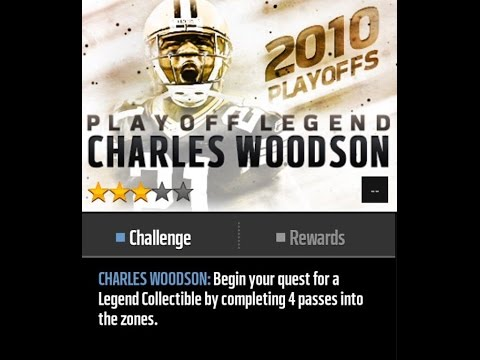 Charles Woodson Legenday Playoff Live Event Madden Mobile