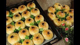 فطائر صباحية خفيفة كالقطن على الطريقة التركية محشوة بالجبنة وحبة البركة مع رباح محمد ( الحلقة 389 )