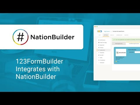 123FormBuilder - NationBuilder Integration Video Tutorial