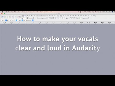 How to make your vocals clear and loud in Audacity
