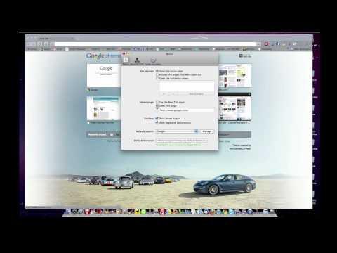 Google Chrome - Mac -  Home, Page and Tools Menu