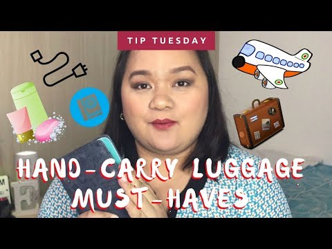 Tip Tuesdays - Hand Carry Luggage Must Haves!