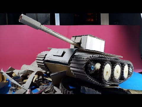 How to make a Tank from Cardboard  - Tank toy DIY -[Piece of Paper]