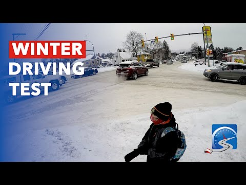 How to Pass Driver's License Road Test on Snow & Ice in the Winter