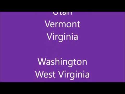 50 States as a Fun Rap Song
