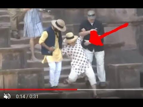 Hillary Clinton falls down steps twice in India, cancels Jodhpur Tour