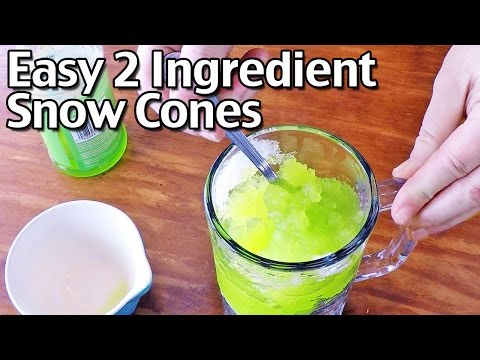 How to Make Easy Snow Cones With Snow!