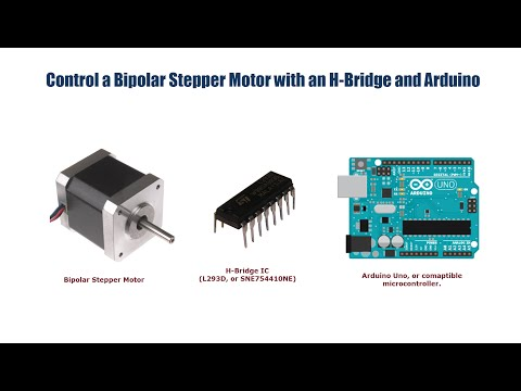 Bipolar Stepper Motor Control with an Arduino and H-Bridge