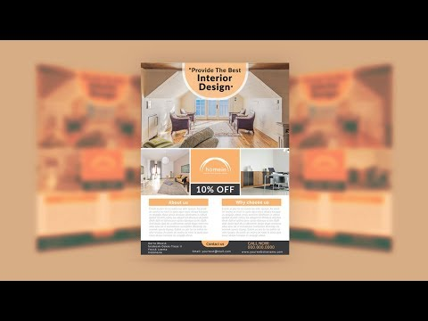 Illustrator Tutorial - Interior Design Flyer