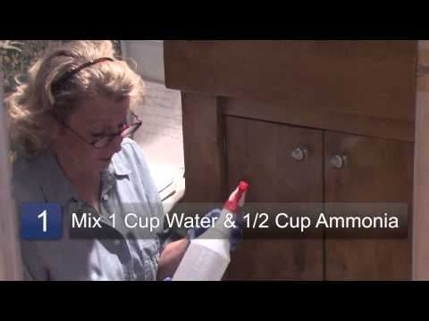 How to Clean Cabinet Hardware With Ammonia