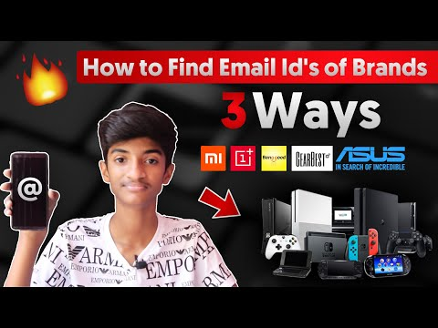 How To Get  Email Id's Of Companies / PRs For Sponsorships & Review Units |Top 3 Methods 🔥
