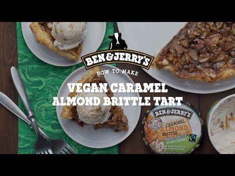 Vegan Caramel Almond Brittle Tart | Ben & Jerry's