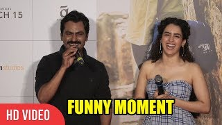 Nawazuddin Siddiqui And Sanya Malhotra Funny Moment At Photograph Movie Song Launch