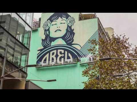 Shepard Fairey 'Peace Waratah' time lapse
