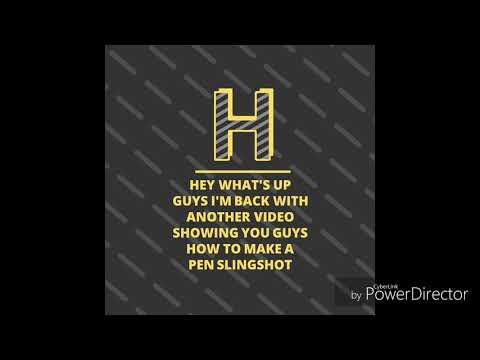 how to make a pen slingshot