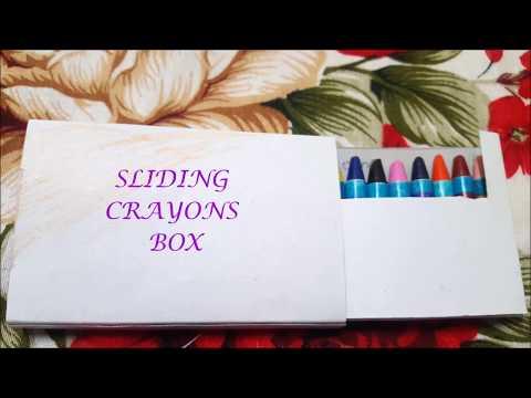 Sliding crayons box