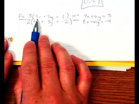 Solving with Elimination Method Making two Matches