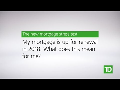 TD – New Mortgage Rules: Mortgage Renewal