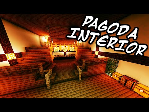 Minecraft Tutorials - Minecraft Tutorial #28 - How to Build the Japanese Pagoda Interior (HD)