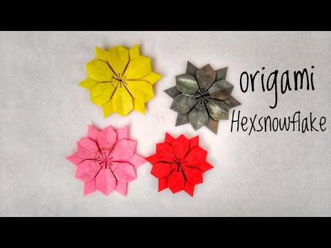 ORIGAMI Hex snowflake