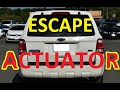 How to open tail gate and replace actuator on Ford escape